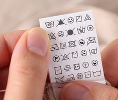 Custom Care Labels Organic Cotton Garment Tags With