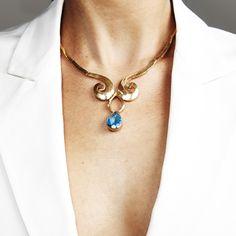 Swirl Necklace Blue