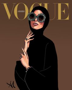 — Vogue Arabia - by Armand Mehidri Vogue Magazine Covers, Vogue Covers, Hijab Drawing, Buch Design, Maila, Fashion Wall Art, Feminist Art, Aesthetic Art, Designs To Draw