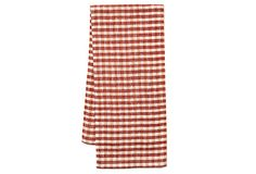 Set of 2 Gingham Check Towels, Red on OneKingsLane.com