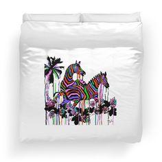 Rainbow Zebras At Play #2:Saundramylesart