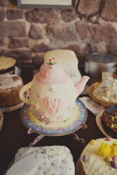wedding cake in the shape of a teacup! photo by Joanna Brown