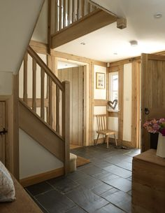Stunning hallway by Border Oak #entrance #oak #staircase the floor this is what I want for the floor!
