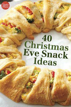 40 Christmas Eve Snack Ideas Christmas Eve Appetizers, Christmas Eve Dinner, Holiday Snacks, Christmas Party Food, Xmas Food, Christmas Cooking, Holiday Recipes, Christmas Treats, Christmas Desserts