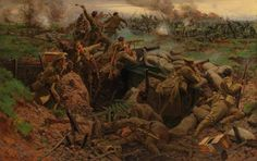 Canadians at Ypres by William Barnes-Wollen (1915)