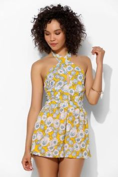 Pins And Needles Wrapped Cutout-Front Romper