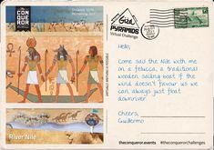 Giza, Postcards, Sailing, Cheer, Challenges, Boat, Baseball Cards, Candle, Humor