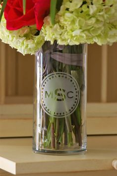 Custom monogrammed etched vase/votive by LTEtchings on Etsy https://www.etsy.com/listing/481751466/custom-monogrammed-etched-vasevotive