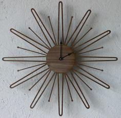 mid-century inspired clock
