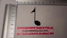 Applique thermocollant Note de musique noir à repasser en tissu flex thermocollant : Déco, Customisation Textile par flexthermocollant