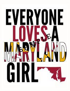 Maryland Girl Print