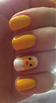 Chick Easter nails!  I doubt that I will take the - http://yournailart.com/chick-easter-nails-i-doubt-that-i-will-take-the-3/ - #nails #nail_art #nails_design #nail_ ideas #nail_polish #ideas #beauty #cute #love