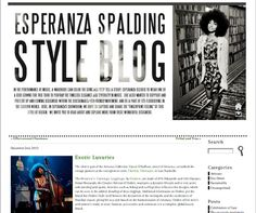 """ESPERANZA SPALDING STYLE BLOG (January 2013)_Esperanza Spalding Style Blog says: """"What's More Alive Than You™ , an Italy-based brand, realizes accessories designed by young international talents, designer, architects and creative artists. Each creation is a unique combination of international creativity and masterful Italian production."""""""