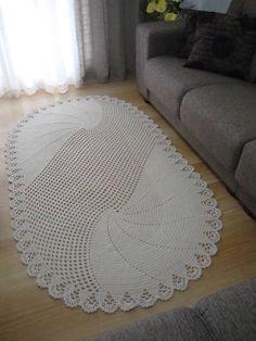 Crochet rug oval handmade 51 ideas for 2019 Oval Rugs, Round Rugs, Crochet Carpet, Crochet Home, Doily Rug, Crochet Doilies, Diy Carpet, Rugs On Carpet, Knit Rug