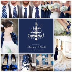 Wedding Theme Royal Navy Blue Invitation By Belka Design Www Belkadesign