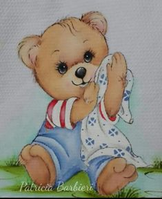 Love you and miss you so my sweet darling Vylette💜🌙👼🏼💔🌺🐻 Bear Pictures, Cute Pictures, Welcome Baby Boys, Bear Illustration, Paint Cards, Magnolia Stamps, Bear Art, Colouring Pages, Fabric Painting