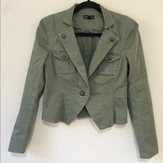 "BEBE Military Jacket 4 In excellent condition, high quality piece. Armpit to armpit - 17"", legnth- shoulder to hem-21"", true to size bebe Jackets & Coats"