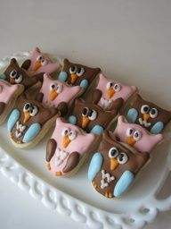 OH SO SMALL Owls sugar cookies  3 dozen by justcrumbs on Etsy, $14.50