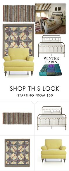 """""""Winter Cottage"""" by patricia-dimmick on Polyvore featuring interior, interiors, interior design, home, home decor, interior decorating, Crate and Barrel, GET LOST, Tribecca Home and cabinstyle"""