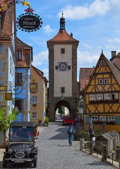 Rothenburg ob der Tauber, Germany - It's an easy day trip from Frankfurt, Stuttgart, Munich or Nuremberg. But this fairy tale village definitely merits an overnight stay to outlast the crowds and take in the Night Watchman's tour! #travel #germany #rothenburg #fairytale #village