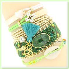 ♡ Vrolijke zomerse kleurtjes ♡ Geef jouw outfit een boho touch ! ♡ Bohemain Rhapsody Bracelet Green ♡ www.armbandonlinekopen.nl