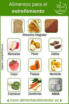 Alimentos para el estreñimiento.