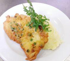 Denné menu Vranov | Vyprážané kuracie prsia v hráškovom cestíčku, zemiaková kaša #DenneMenu #Restauracia Reštaurácia Hotel Patriot***