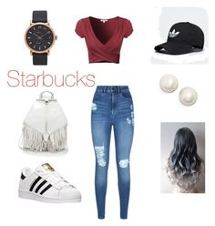 """""""Let go to Starbucks!"""" by joycesonera on Polyvore featuring Lipsy, adidas, Rebecca Minkoff, Marc Jacobs and Kate Spade"""