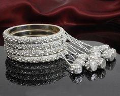 Girls Jewelry, Keep Jewelry, Bridal Bangles, Bridal Jewelry, Bangle Set, Bracelet Set, Metal Bracelets, Bangle Bracelets, Wedding Bridesmaids