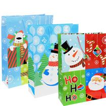 Bulk Jumbo Whimsical Christmas Gift Bags at DollarTree.com