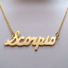 Scorpio necklace style Zodiac necklaces are made of brass with a genuine matte gold finish. Scorpio Girl, Aries Love, Scorpio Necklace, Gold Necklace, Scorpio Horoscope, Scorpio Quotes, Horoscopes, Zodiac Jewelry, Jewelry Accessories