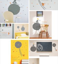 LITTLE PRINCE with quoted letters Wall Decor Decal Sticker DIY. I would prefer the French version but this is super cute!