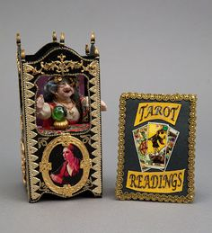 Ornate Victorian Fortune Teller Booth with Fortune Teller