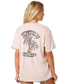 Buy Ash Rose Billabong Punk Palms Tee Online From Surfstitch More Billabong Tees Shipping available Australia wide including Sydney Melbourne Brisbane Adelaide Perth Hobart Darwin - Surf Shirt, Fashion Background, Surfer Girl Style, Billabong Women, Surf Outfit, Surf Style, Bikini Fashion, Cute Outfits, Stylish Outfits