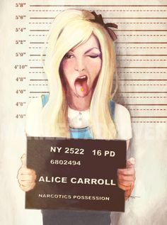 "After her third stint in rehab, it seems she's been booked again. | ""Alice"" by TeeLamb.deviantart.com on @deviantART"
