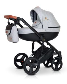 Stroller Pram Travel system with Isofix Eco Leather MIRAGE Premium Prams And Pushchairs, Car Seat Accessories, Baby Prams, Baby Cover, Carters Baby Boys, Baby Education, Travel System, Baby Safety, Baby Furniture