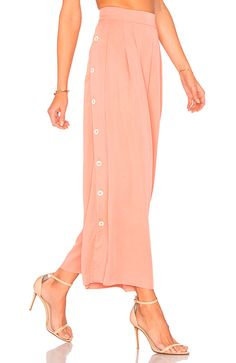 Shop for Mara Hoffman Button Side Culottes in Apricot at REVOLVE. Mara Hoffman, Petite Fashion, Womens Fashion, Cashmere Coat, Revolve Clothing, Cropped Pants, Style Guides, High Waisted Skirt, Fashion Tips