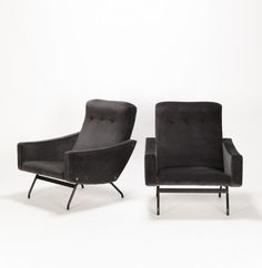 Joseph-André Motte; Lounge Chairs for Steiner, 1950s.