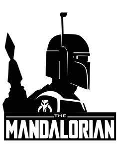 The Mandalorian svg file shirt sticker Star Wars Stencil, Stencil Art, Star Wars Art, Stencils, Star Wars Silhouette, Silhouette Art, Silhouette Projects, Boba Fett Mandalorian, Star Wars Crafts