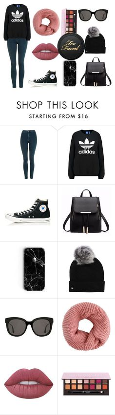 Too Faced by pinkybunny on Polyvore featuring moda, Topshop, adidas Originals, Converse, UGG, Gentle Monster y Lime Crime