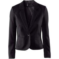 H&M Short jacket ($11) ❤ liked on Polyvore featuring outerwear, jackets, blazers, blazer, h&m, black, blazer jacket, h&m jackets, pocket jacket and short black blazer