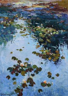 Buy Water Lily Pond - Original oil painting, Oil painting by Anastasiya Valiulina on Artfinder. Discover thousands of other original paintings, prints, sculptures and photography from independent artists.