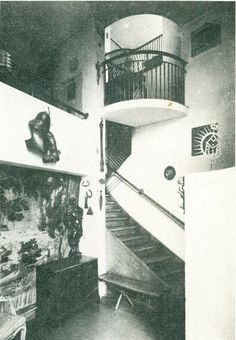 designers and architects - Brukalscy, their private house, Warsaw, ca. 1928
