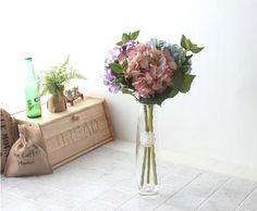 [바보사랑] 겨울에도 꽃! 조화/인테리어/수국/장식/인테리어소품/꽃/플라워/감성/로맨틱/북유럽