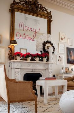 Sara Ruffin Costello's holiday decor from A Perfect Gray.