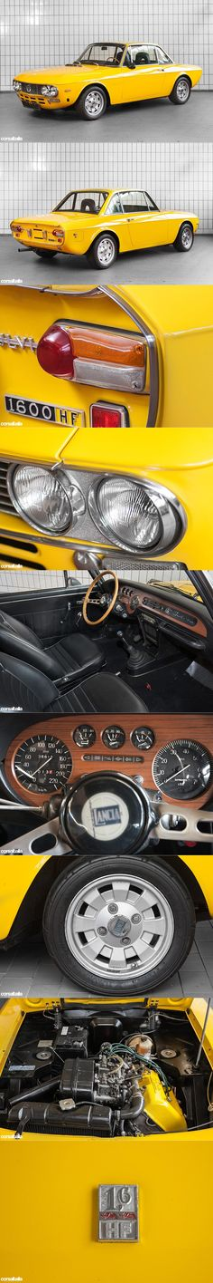 1972 Lancia Fulvia 1600 HF serie II 'Fanalone' / Corsaitalia.com / Italy / yellow