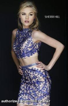 Sherri Hill Fall Homecoming Prom Collection - 1969 2-piece two piece crop top