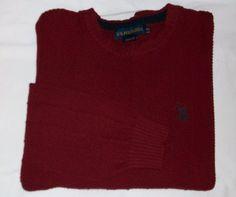 Mens sz XXL U.S. Polo Assn. Burgundy Cable Knit Crewneck Sweater #USPoloAssn #Crewneck