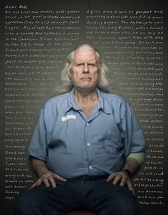 Reflective Portraits of Prisoners and Their Handwritten Letters to Their Younger Selves- great idea for senior issue or something.