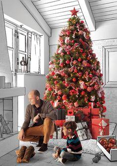 1000 images about navidad on pinterest ideas para tes - Como se adorna un arbol de navidad ...